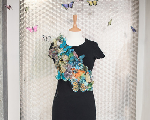 Level 2 Diploma in Art & Design fashion design with butterflies