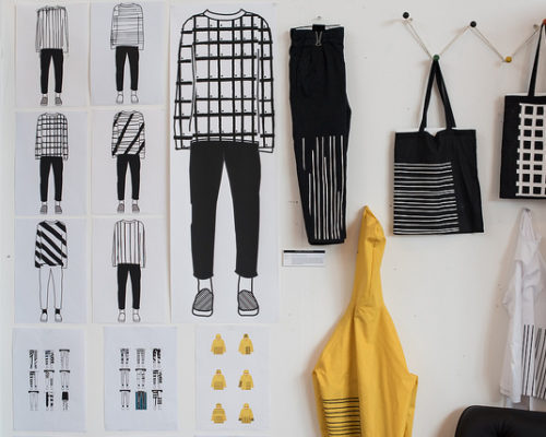 Level 3 Extended Diploma in Art and Design student artwork fashion designs
