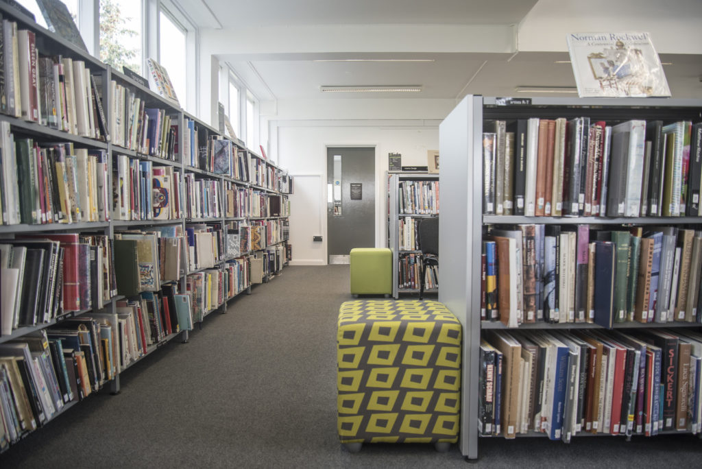 Inside College Road Library